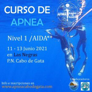Curso de Apnea Nivel 1 / AIDA ** 11 Junio 2021